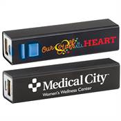 Our Staff Is All Heart Positivity Metal Power Bank with Personalization