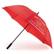 "Red 60"" Golf Umbrella - Personalization Available"