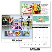 2020 Steps To Living Healthy Wall Calendar - Personalization Available