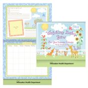 Watching Baby Grow First Year Keepsake Calendar With Milestone Stickers & Pocket - Personalization Available