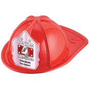 Imprintable Firefighter Hat (Red) - Pink Metallic Design