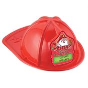 Santa's Junior Firefighter Red Firefighter Hat With Personalization