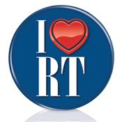 I (Heart) RT Button: Radiologic Technology