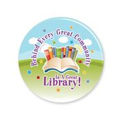 Behind Every Great Community Is A Great Library! Button