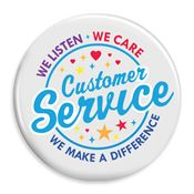 Customer Service: We Listen, We Care, We Make A Difference 50-Button Assortment Pack