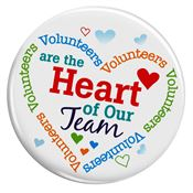 Volunteers Are The Heart Of Our Team Buttons Pack