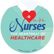 Nurses: The Heartbeat Of Healthcare Button