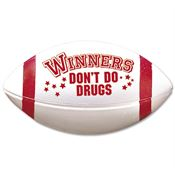 Winners Don't Do Drugs Red Ribbon Mini Football