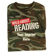 Wild About Reading Camouflage T-Shirt (Youth) - Personalization Available