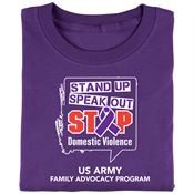 Stand Up Speak Out Stop Domestic Violence T-Shirt - Personalization Available