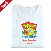 Wild About Reading Youth T-Shirt - Personalization Available