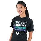 Take A Stand Against Sexual Assault & Domestic Violence Short Sleeve T-Shirt (Personalized)
