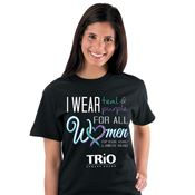 I Wear Teal & Purple For All Women Stop Sexual Assault ... Short Sleeve T-Shirt (Personalized)