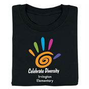 Black History Celebrate Diversity Adult-Size T-Shirt - Personalization Available