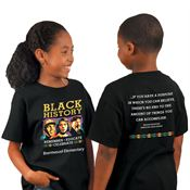 Black History: Remember, Educate, Celebrate 2-Sided Youth T-Shirt - Personalization Available