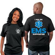 I Am An EMS Supporter EMS Bragging Rights Short-Sleeve T-Shirt