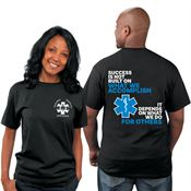 Success Is Not Built On What We Accomplish...EMS Bragging Rights Short-Sleeve T-Shirt