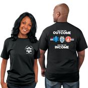 In It For The Outcome Not For The Income EMS Bragging Rights Short-Sleeve T-Shirt