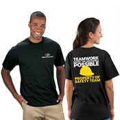 Teamwork Makes The Impossible Possible Bragging Rights 2-Sided Short-Sleeve T-Shirt - Personalized