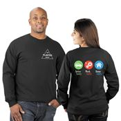 Arrive Safely, Work Safely, Home Safely 2-Sided Long-Sleeve T-Shirt - Personalized