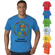 Field Day Adult 100% Cotton Full Color T-Shirt - Personalization Available