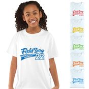 Field Day Youth 100% Cotton White T-Shirt - Personalization Available