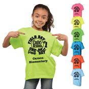 Youth Field Day Themed Neon T-Shirt - 4 Great Designs - Personalization Available