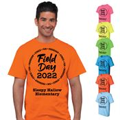 Field Day Adult 100% Cotton Neon T-Shirt - Personalization Available