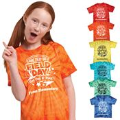 Field Day Youth Tie Dye T-Shirt - 4 Great Designs - Personalization Available