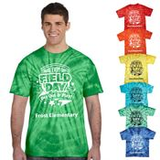 Field Day Adult Tie Dye T-Shirt - 4 Great Designs - Personalization Available