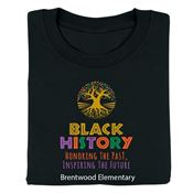 Black History: Honoring The Past, Inspiring The Future 2-Sided Youth T-Shirt - Personalized