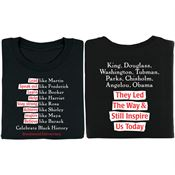 They Led The Way & Still Inspire Us Today 2-Sided Adult T-Shirt - Personalization Available