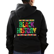 Black History Adult 2-Sided Personalized Black Hooded Sweatshirt