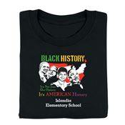 Black History: It's Not Just Our History It's American History Youth T-Shirt - Personalization Available