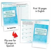 Medical Information Recorder Bilingual Flip Book - Personalization Available