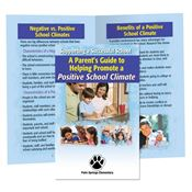 A Parent's Guide To Helping Promote A Positive School Climate Bilingual Handbook - Personalization Available