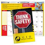 Think Safety 2019 Deluxe Monthly Pocket Planner with FREE Stickers - Personalization Available