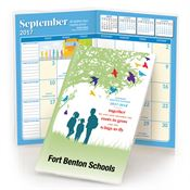 2017-2018 School Days Monthly Pocket Planner With Protective Vinyl Sleeve - Personalization Available