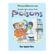 Timmy The Dinosaur Says: Be Safe: Stay Away From Poisons Activity Book - Personalization Available