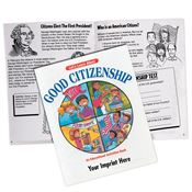 Let's Learn About Good Citizenship Activities Book - Personalization Available