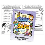 It's Cool To Be Safe Educational Activities Book - Personalization Available