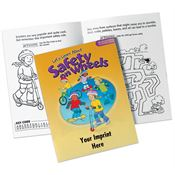 Let's Learn About Safety On Wheels Educational Activities Book - Personalization Available