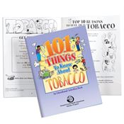 101 Things To Know About Tobacco Educational Activities Book - Personalization Available