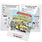 Let's Learn How To Be School Bus Safety Super Stars Educational Activities Book - Personalization Available