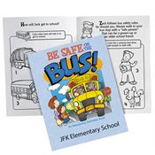 Be Safe On The Bus! Educational Activities Book - Personalization Available