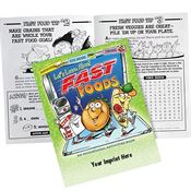 Let's Learn About Fast Foods Educational Activities Book - Personalization Available