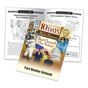 10 Days In Black History That Changed Our Nation Educational Activities Book - Personalization Available