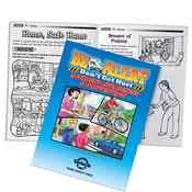 Be Alert-Don't Get Hurt Accident Awareness & Prevention Educational Activities Book - Personalization Available