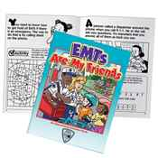 EMTs Are My Friends Educational Activities Book - Personalization Available
