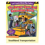 Let's Learn About Bus Safety: Rules For Safe Riding/The Danger Zone & Evacuation Drills Activities Book - Personalized